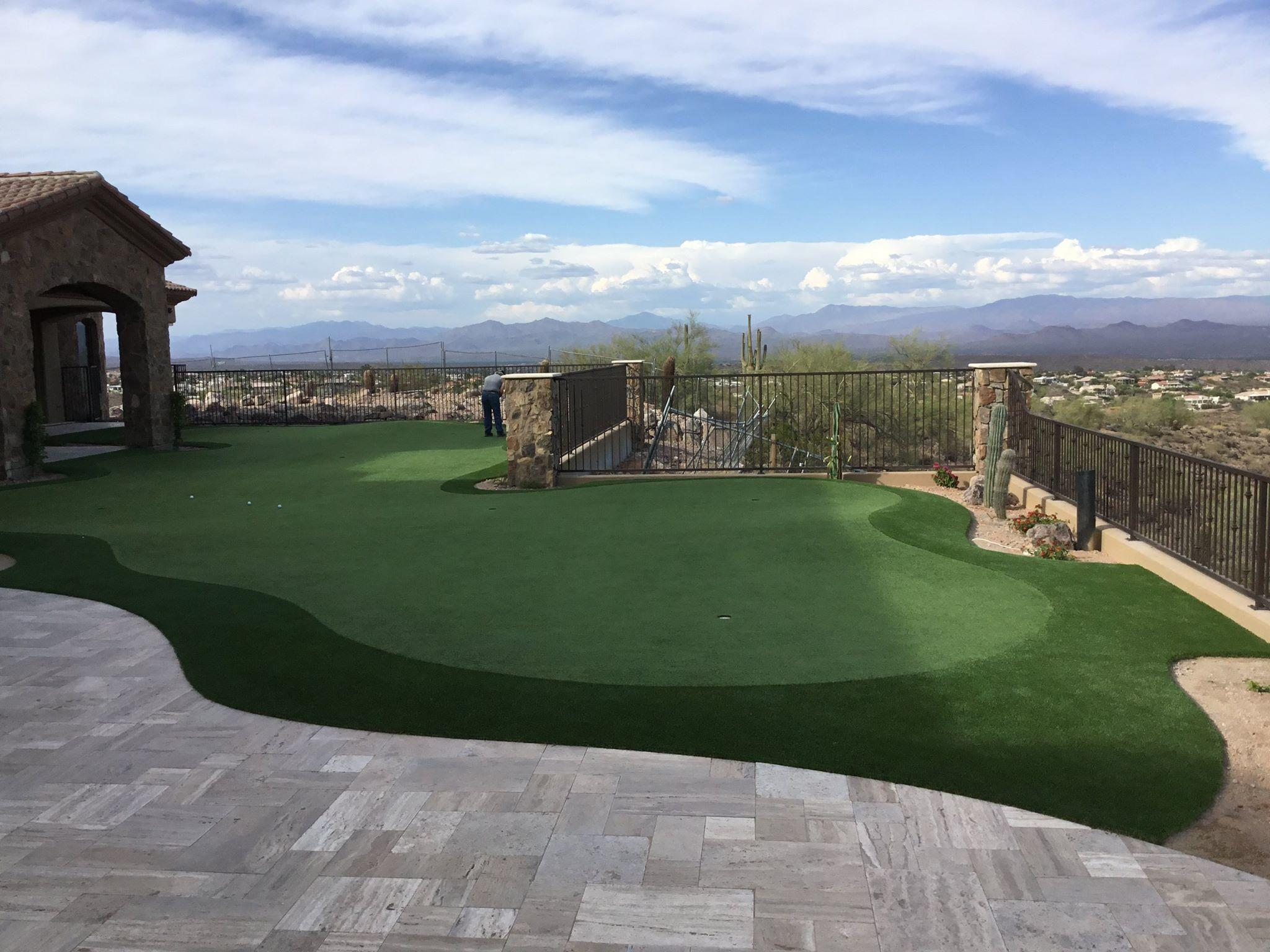 phoenix az backyard putting greens photo gallery