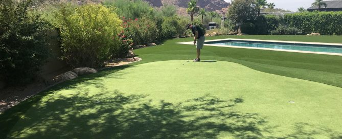 paradise valley backyard putting green