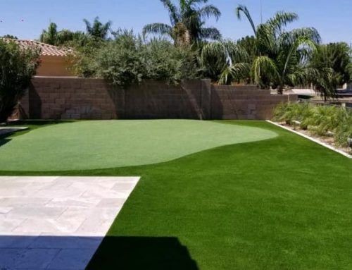 Phoenix Lakeside Artificial Grass Backyard with Private Putting Green
